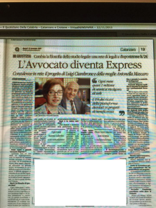 IL QUOTIDIANO DEL SUD DEL 12.11.2015. AVVEXPRESS
